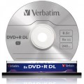 10 Verbatim DVD+R DL 8x 8.5GB